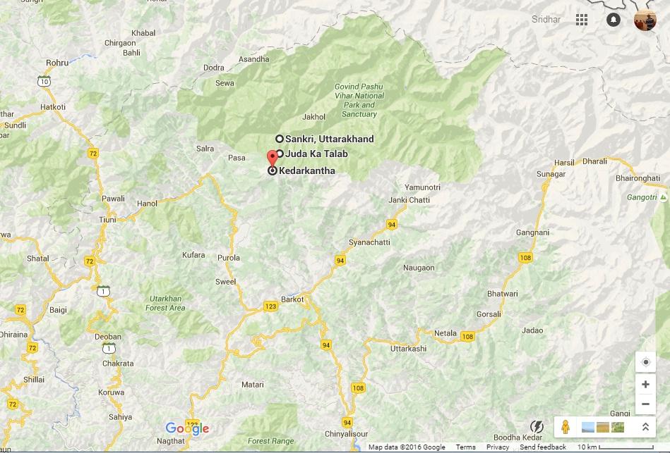 Kedarkantha-Map