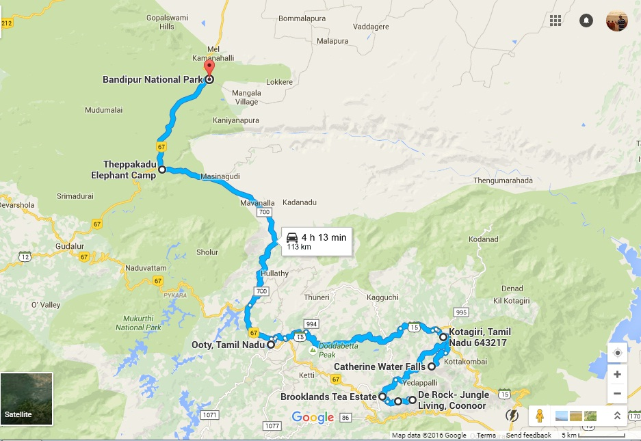 Road_Map2ootyCoonoor-BackwardJourney