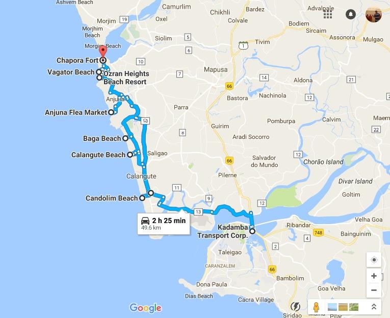 north-goa-map